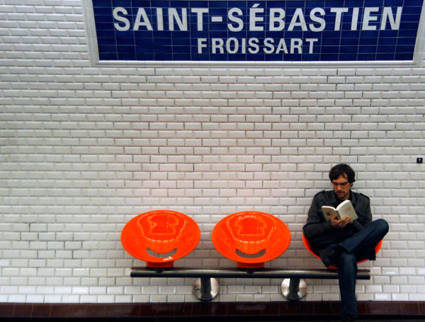 במטרו של פריז זה מתאים (צילום: תמר מושינסקי )