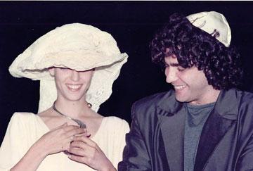 ליהיא ויאיר לפיד ביום החתונה (צילום: אבי ולדמן)