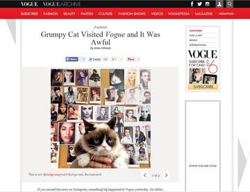 נכנסה להיכל התהילה: גראמפי קאט מגיעה למשרדי ווג (מתוך: vogue.com)