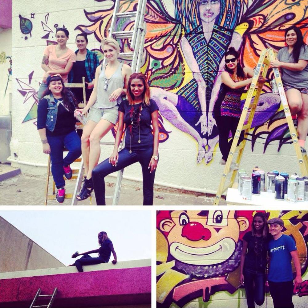 טיטי איינאו ואמני artists4israel. מניו יורק לנתניה באהבה ובהתנדבות (צילום: ירדן הראל, באדיבות Gostyle)