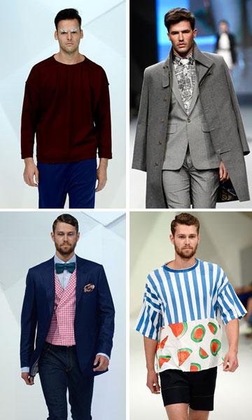 משקיעים גם בבגדי גברים מעוצבים. שבוע האופנה בדובאי (צילום: gettyimages)