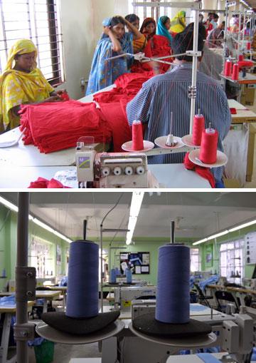 מפעלי טקסטיל בבנגלדש. בעלי המפעלים, רובם בחסות המדינה, מוכנים לשלם לעובדים שכר של 77 סנט לשעה (צילום: ILO in Asia and the Pacific, jankie, cc)