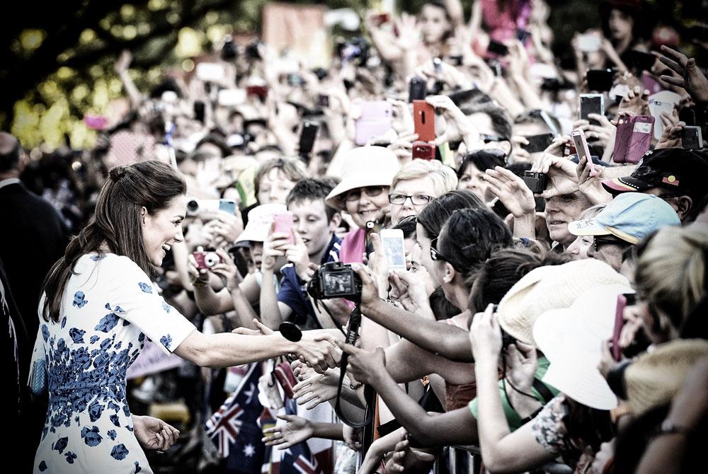 כולם אוהבים את קייט. מידלטון בביקור באוסטרליה (צילום: gettyimages)