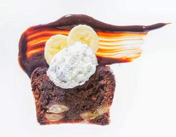עוגת שוקולד חלב ובננות (צילום: דני לרנר, סגנון: נעמה רן)
