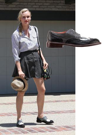 דיאן קרוגר נועלת CLERGERIE למרי נעליים (2,200 שקל) (צילום: splashnews/asap creative)