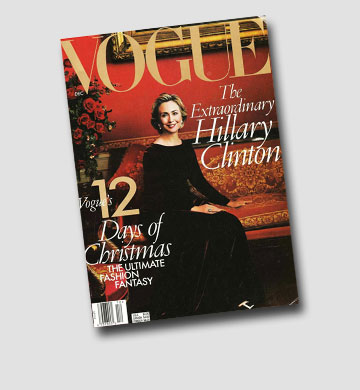 תהיה הנשיאה הראשונה של ארצות הברית? הילרי קלינטון על שער מגזין ווג בשנת 2009 (צילום: gettyimages)