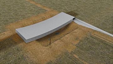הדמיה של המבנה החדש, מבט מלמעלה  (באדיבות אוקא אדריכלים-אורית וילנברג גלעדי וקרן ידווב)