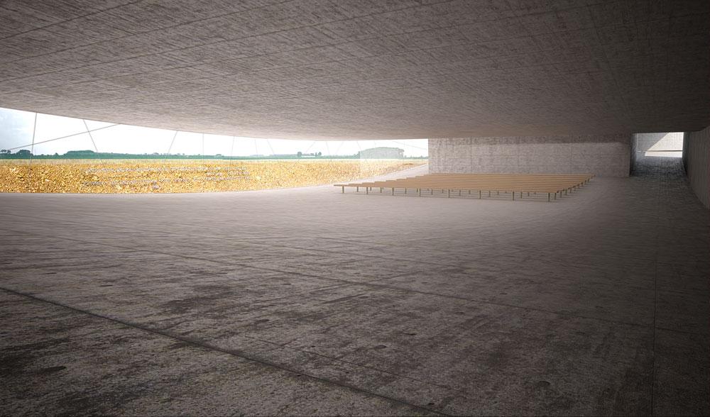 """המבנה אמור להתפרש על שטח של כ-800 מ""""ר, סמוך לאזור החניה. התוכניות נמצאות בהליכי אישור ראשוניים מול רשויות התכנון הפולניות (באדיבות אוקא אדריכלים-אורית וילנברג גלעדי וקרן ידווב)"""