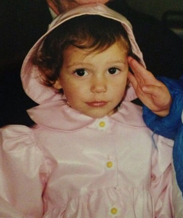 סיידי ברונסטיין בילדותה (באדיבות דובר צהל)