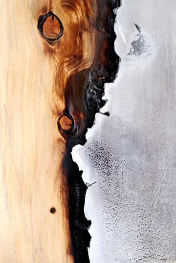 החיבור בין העץ לאלומיניום מקרוב