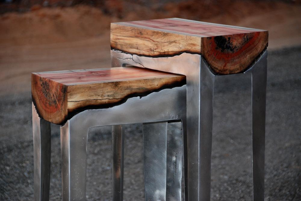 סדרת ה-Wood Casting, שמשלבת עץ ואלומיניום. שמיע פיתחה את טכנולוגיית היציקה הייחודית שלה במהלך פרויקט הגמר שלה, ובאפריל 2012, פחות משנה לאחר סיום הלימודים, הציגה ביריד הרהיטים במילאנו