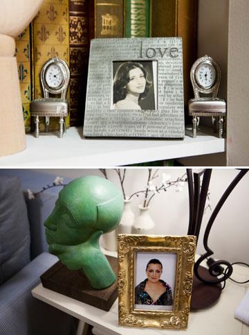 ביתה של בטי רוקאווי, עם תמונות שלה מצעירותה וכיום (צילום: מירב בן לולו )