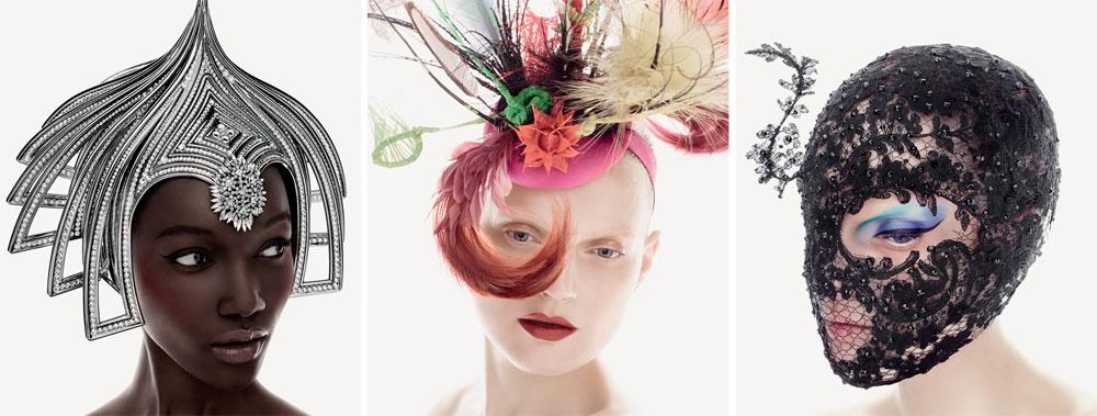 """כובעים שעיצב טרייסי במיוחד עבור קולקציית האיפור שיצר בשיתוף פעולה עם M.A.C, שמושקת כעת גם בחנויות המותג בישראל. """"כובעים זקוקים לאיפור, אחרת האדם שחובש אותם ילך לאיבוד"""" (באדיבות מאק)"""