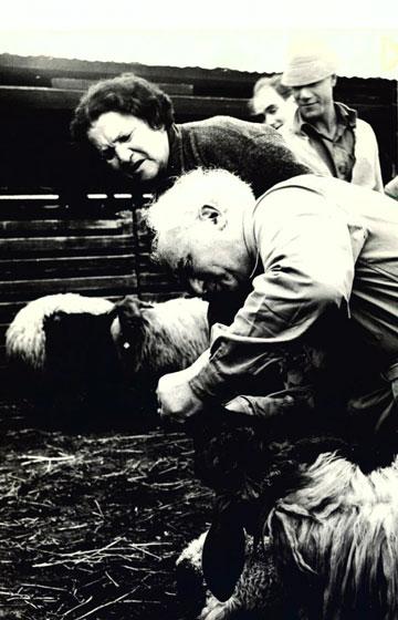 לא פחדה לתת ביקורת כשהיה צריך. דוד ופולה בן גוריון (צילום: אוסף בן -גוריון)
