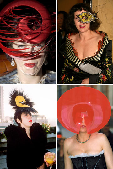 השתמשה בכובעים כדי להסתיר את פניה. איזבלה בלאו (צילום: rex/asap creative)