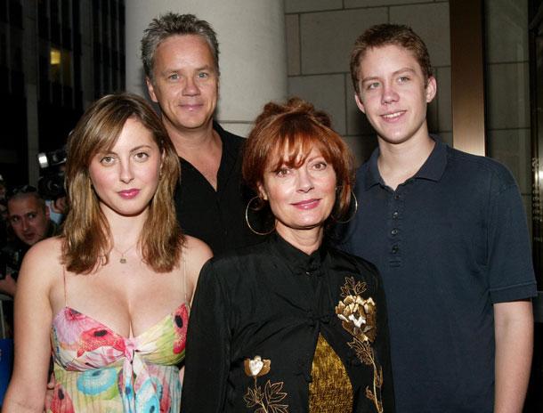 סוזן סרנדון ומשפחתה היפה (צילום: gettyimages)