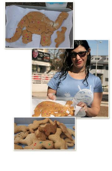 הדס בר ועוגיות הדינוזאור שלה (צילום: ילנה ויינברג        )