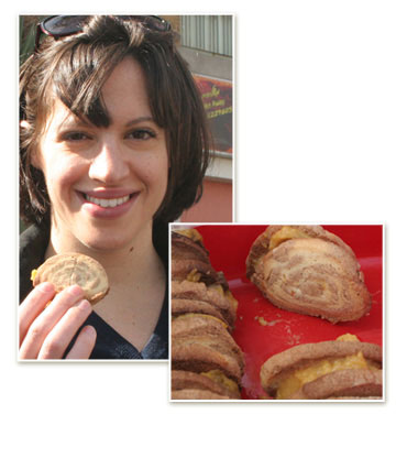 עדי מנדלוביץ' ועוגיות הספירלה שלה (צילום: ילנה ויינברג        )