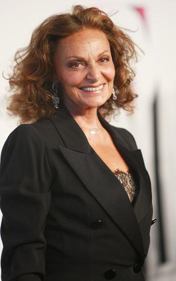 דיאן פון פירסטנברג. הוכתרה כ''אישה המרשימה ביותר באופנה מאז קוקו שאנל'' (צילום: gettyimages)