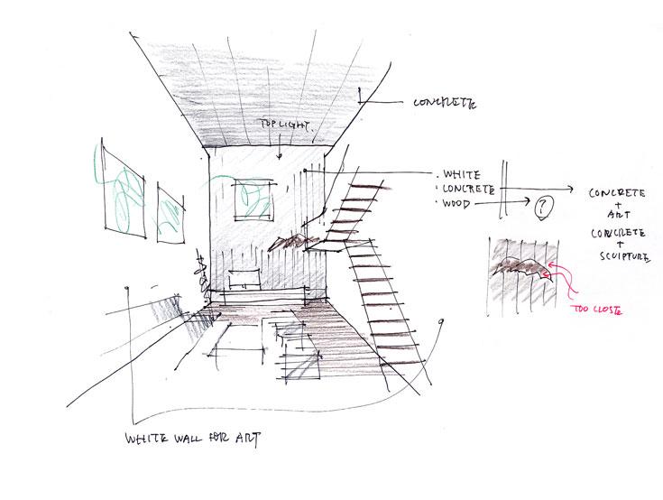 סקיצה של אשיזאווה לבית S (Keiji Ashizawa Design)