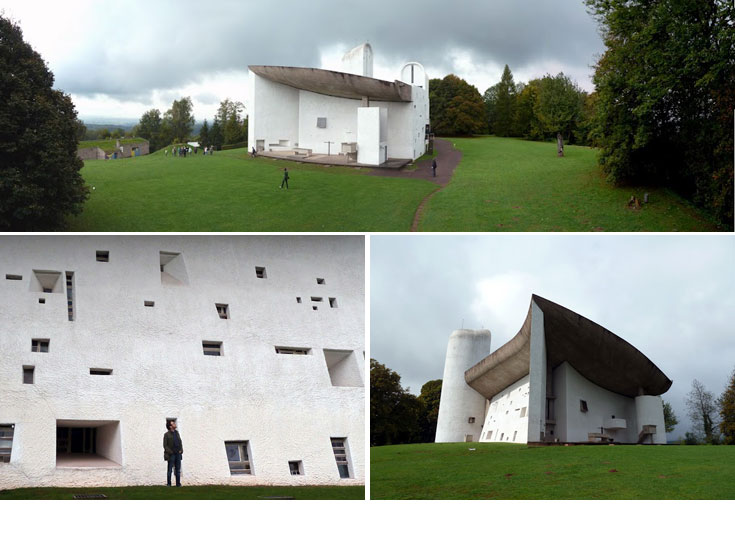 מהיצירות האדריכלות הידועות של המאה ה-20: כנסיית Notre dame du Haut של לה קורבוזייה. סמל לשלום ולהרמוניה (צילום: נטע אחיטוב)