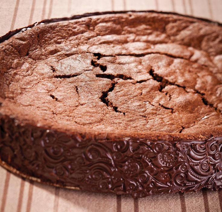 עוגת שוקולד מושחתת ללא קמח (צילום: דן פרץ)