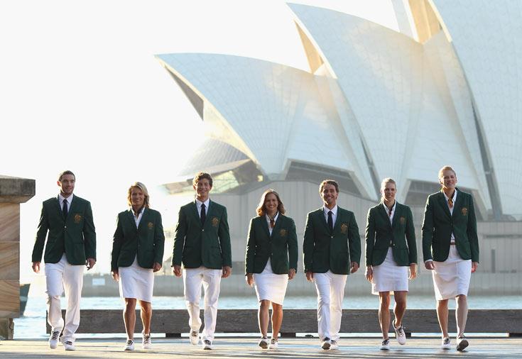 המדים הרשמיים של נבחרת אוסטרליה בעיצוב דניאל בראקן (צילום: gettyimages)