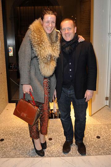 סקוט שומאן וגארנס דורה. למי אכפת מהפרשי גובה כשיש כזה סטייל? (צילום: gettyimages)