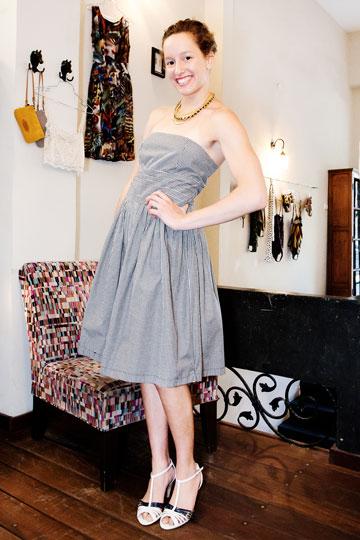 בנקר. שמלה בגזרה צעירה למראה (צילום: ענבל מרמרי)