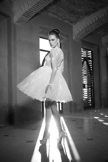 שמלות הכלה של עידן כהן. סגנון אקלקטי וססגוני (צילום: שי יחזקאל)