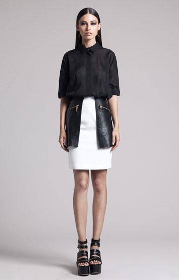 בגדי הנשים של רחל כהן ל-Common Raven. קווים מינימליסטיים  (צילום: אלון שפרנסקי)