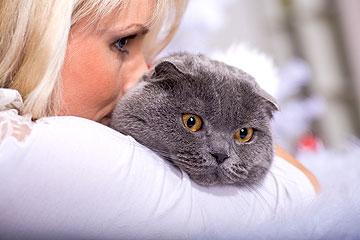 נדרשה לבחור בין הבעל לבין החתולים. נחשו במי היא בחרה. למצולמת אין קשר לכתבה, ועד כמה שאנחנו יודעים, גם לחתול לא (צילום: shutterstock)
