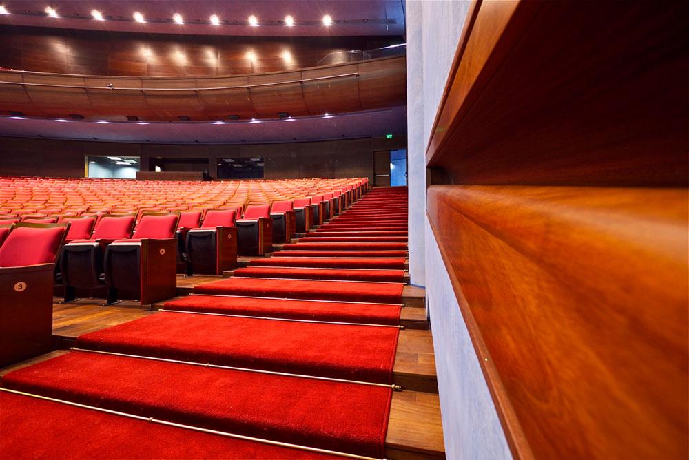 האולם מכיל 650 מקומות ישיבה, ועוד 300 ביציע (צילום: איתי סיקולסקי)