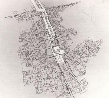 התוצאה: חשיפת הרחוב הקדום (איור: פטר בוגוד)