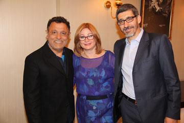 מימין: הרב איתן ירדני, הרבנית קרן ברג ומעצב האופנה אלי טהרי (צילום: ניר פקין)