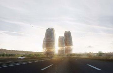 מתוכננים בהתאם לתקן הבנייה הירוקה LEED (הדמיה: Research architects)