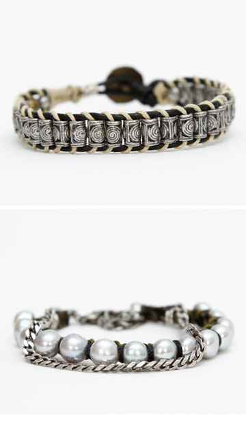 תכשיטים בסגנון רוקיסטי המתובל בנגיעות אתניות. eclectiker (צילום: מורן שחף)