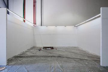 הקירות יכוסו בשלל עבודות אמנות (צילום: אביעד בר נס)