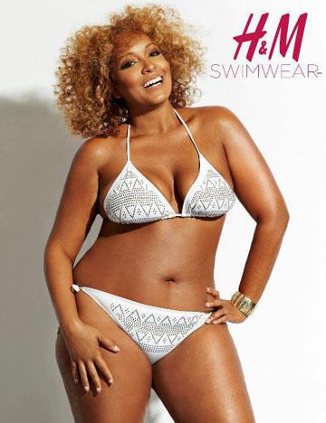 ככה זה נראה לפני שנה: קמפיין בגדי הים של H&M למידות גדולות, 2012 (צילום: הנס מוריץ)