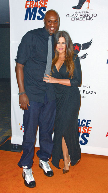 בקרוב הגט? קלואי ובעלה שחקן הכדורסל למאר אודום  (צילום: gettyimages)