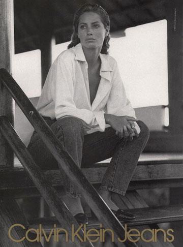 כריסטי טרלינגטון לקלווין קליין, 1989