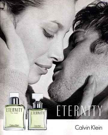 בפרסומת ל-Enternity משנת 2004. כנראה הרומן הארוך ביותר בתעשייה