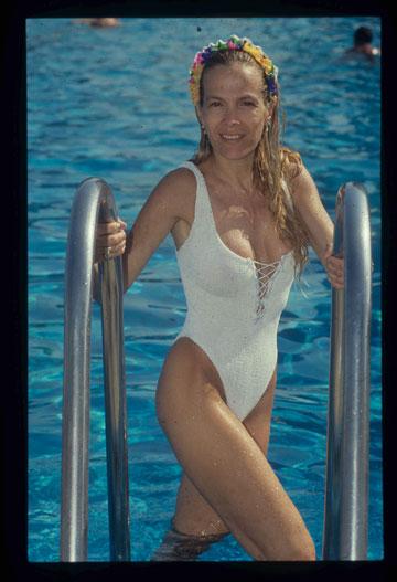"""פינצ'י מור, 2011. """"היא היתה דוגמנית בולטת עם גוף בולט"""", אומר גדעון אוברזון (צילום: אביגיל עוזי)"""
