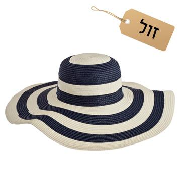 למבנה פנים אובלי: כובע רחב שוליים, 40 שקל, טופ טן (צילום: יניב דרוקר)
