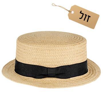 לפנים מאורכות: כובע קש עם שוליים צרים, 60 שקל, H&M (צילום: הנס מוריץ)