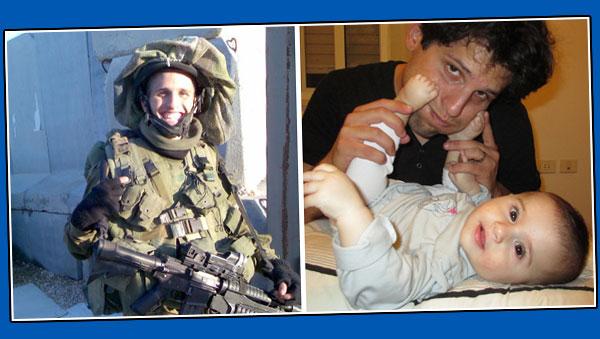 אליסף יעקב. מימין: עם נויה. משמאל: בשירות הצבאי