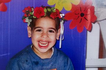 אור בן החמש אהב מאוד לצחוק (מתוך האלבום המשפחתי)