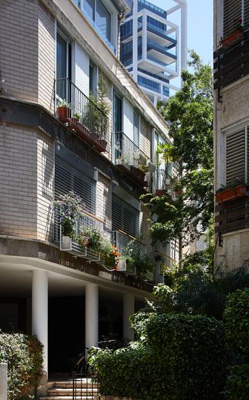 הבניין בלטריס 7. הדירה שבכתבה היא בקומה הראשונה (צילום: עדי גלעד)
