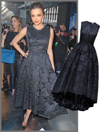 מירנדה קר מפגינה מודעות חברתית בשמלה של H&M Conscious Exclusive (מחיר: 999 שקל) (צילום: gettyimages, הנס מוריץ)