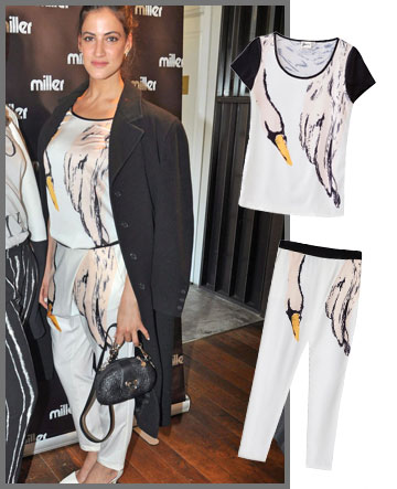 רונה לי בטוטאל-לוק ברבורי של בוטיק ירין (מכנסיים: 449 שקל, חולצה: 349 שקל) (צילום: רפי דלויה, דנה קרן)